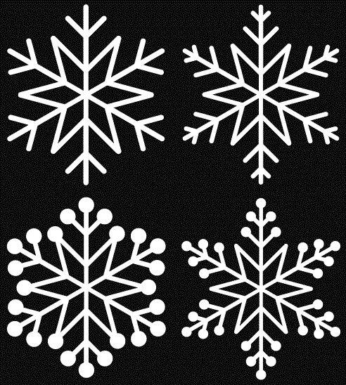 motifs de flocon de neige