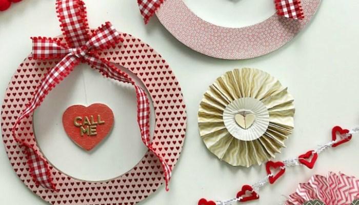 Valentine's Day Floating Conversation Heart Wreath