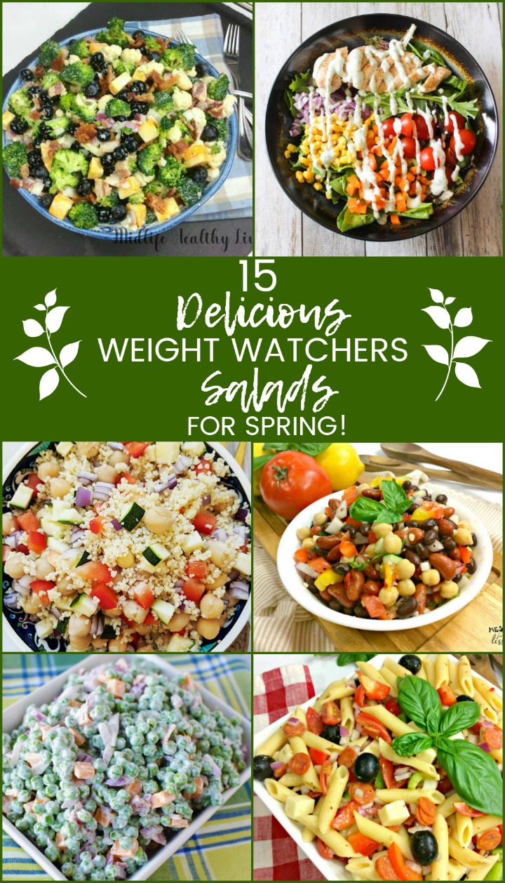 Get back on track with these 15 delicious weight watchers salads for spring!