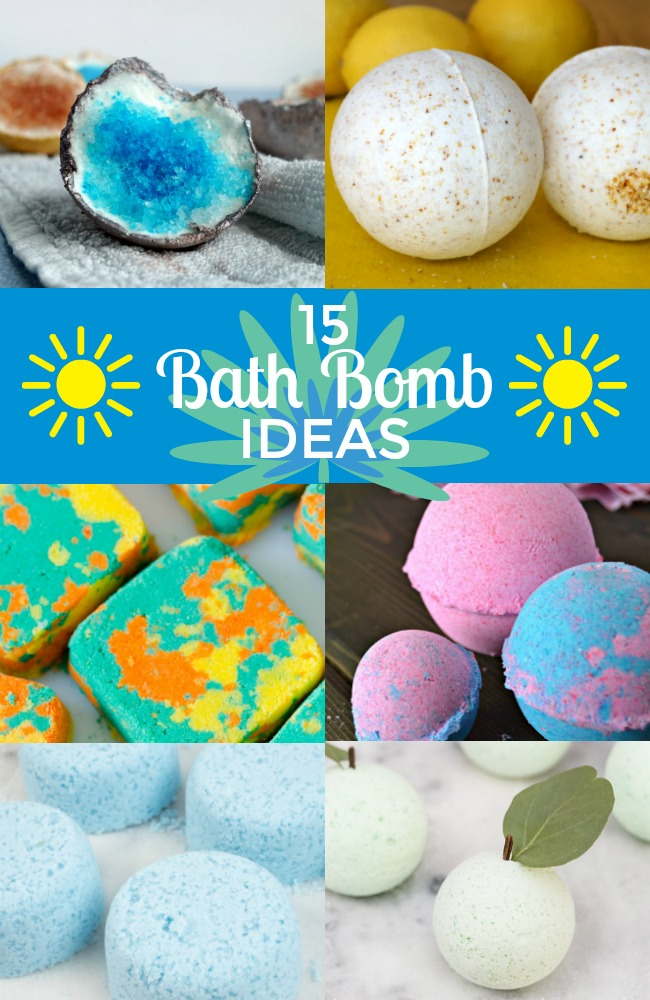 15 bath bombs to make with your kids and 1 month of kids craft ideas you can make at home with amazon supply list.