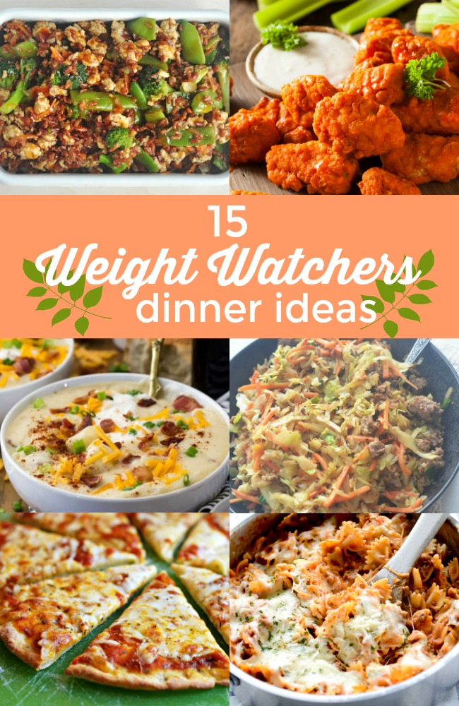15 Delicious Weight Watchers Dinner Recipes! Weight Watchers is one of my favorite diets because of how flexible it is! Here are 15 Weight Watchers dinner recipes!