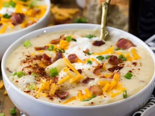 1 point Weight Watchers point loaded baked potato soup recipe