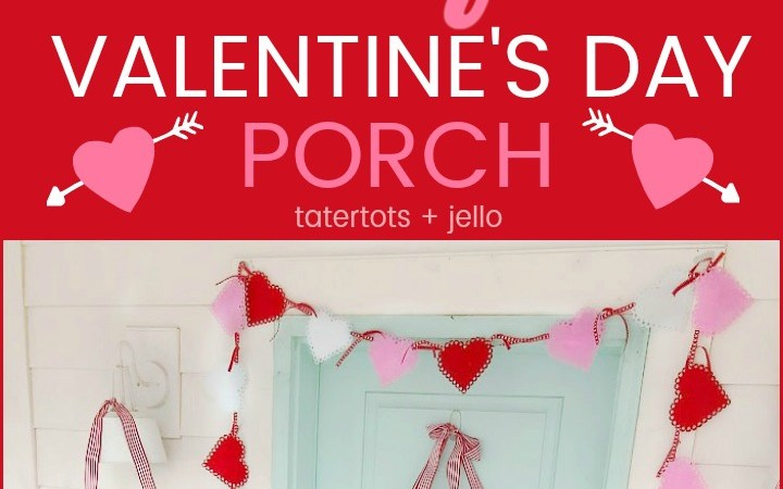 "6 Ways to Create a Colorful ""Be Mine"" Valentine's Day Porch"