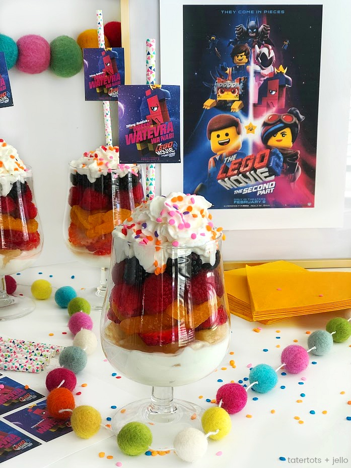 Rainbow Yogurt Fruit Parfaits and the Lego 2 Movie!