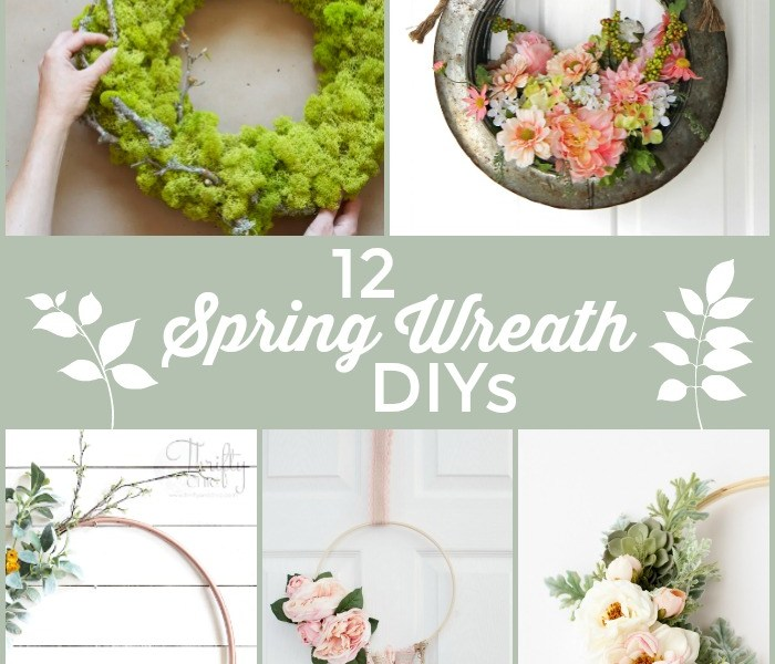 12 GORGEOUS Spring Wreath DIYs!
