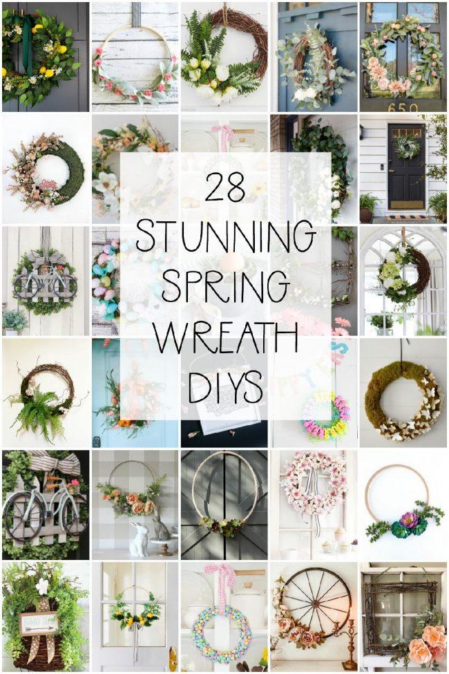 28 stunning DIY wreaths to make this Spring!