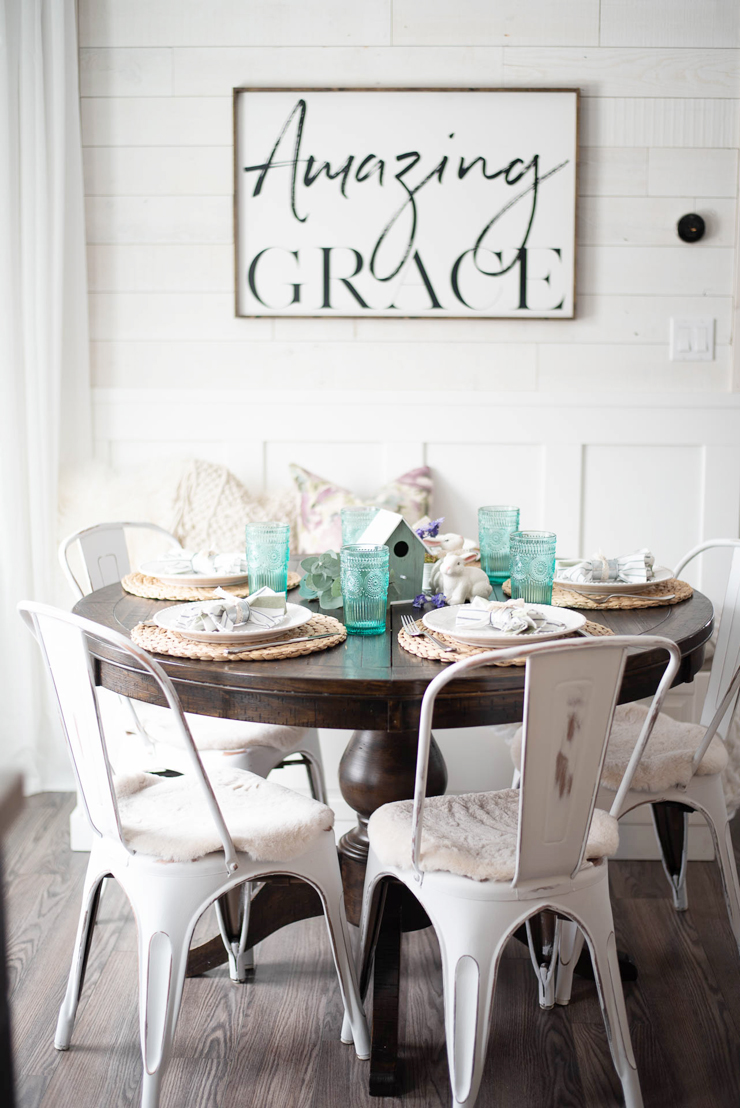 Spring Tablescape using Dollar Spot Items