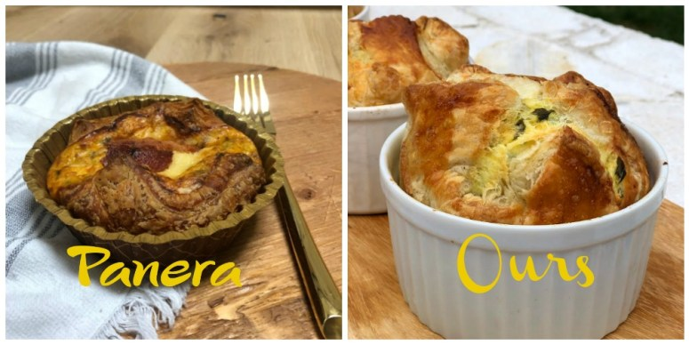 Copycat Panera Spinach and Artichoke Egg Souffles. Fluffy eggs in a delicious spincha artichoke batter baked in layers of light layers of crust will impress weekend guests and the best part is they are SO easy to make!