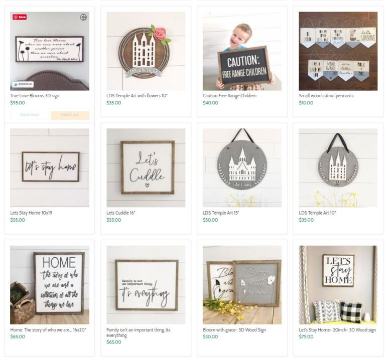 the handmade sign company discount code - TATERTOTSBOGO - buy one, get the other half off