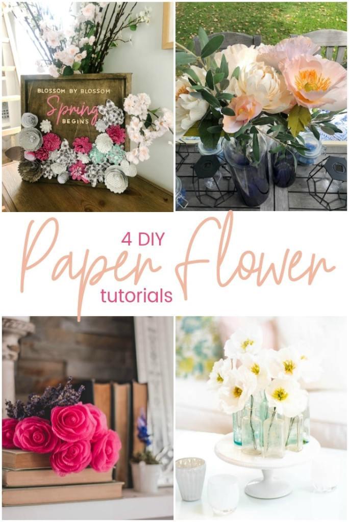 4 DIY Paper Flower Tutorials