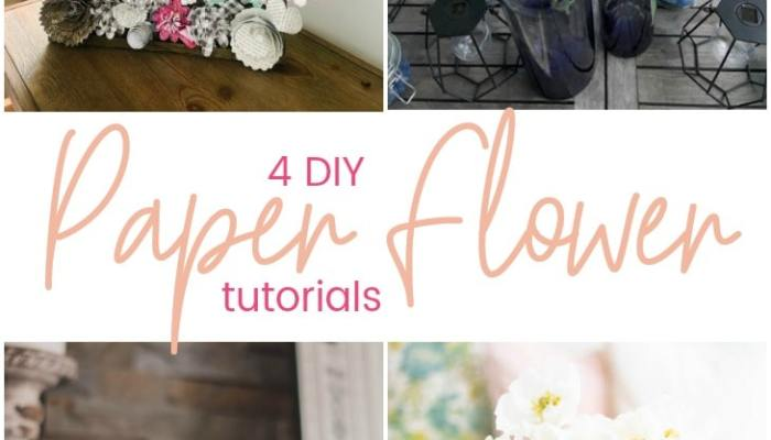 Easy Spring Paper Flower Wall Art