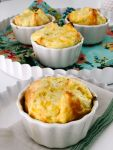 Panera-inspired Jalapeno Artichoke Egg Souffles. Creamy jalapeno artichoke egg filling nest inside light and flaky pastry in this mouth-watering individual brunch recipe!