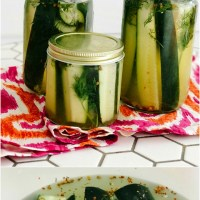 Spicy Crunchy Refrigerator Dill Pickles