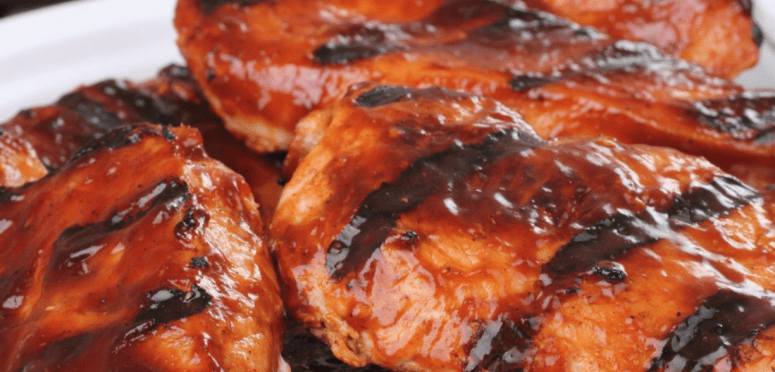 6 Weight Watchers Smart Points Easy BBQ Chicken @ Slenderberry