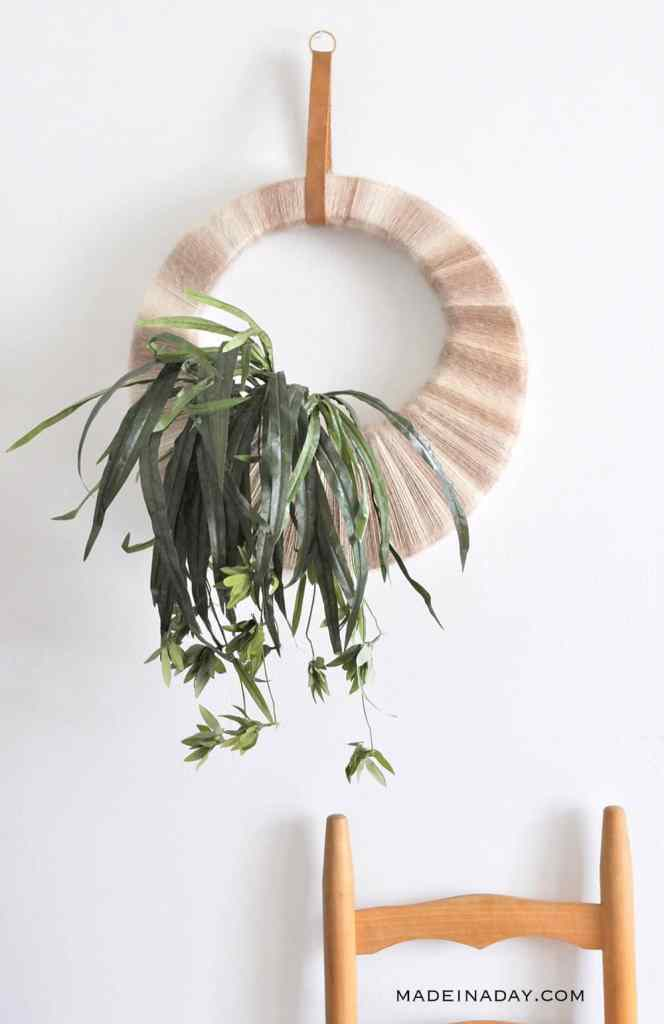 Boho Tropical Plant Wreath