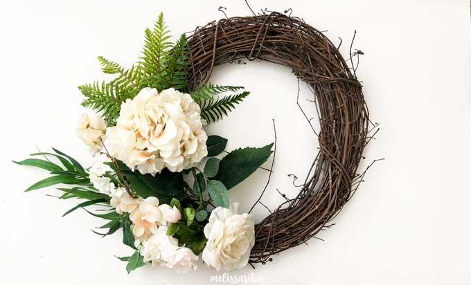 DIY Summer Hydrangea & Fern Wreath