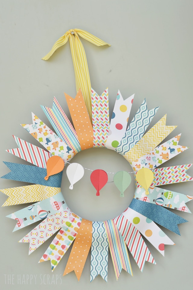 Hot Air Balloon Summer Wreath
