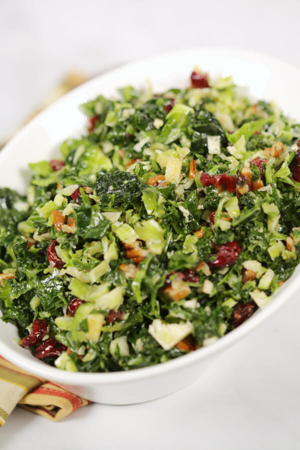 Kale and Brussels Sprouts Salad @ It Is A Keeper
