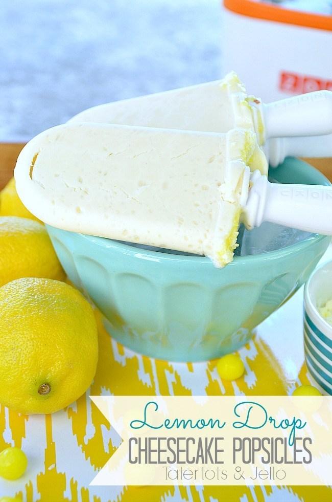 Lemon Drop Cheesecake Popsicles @ Tatertots & Jello