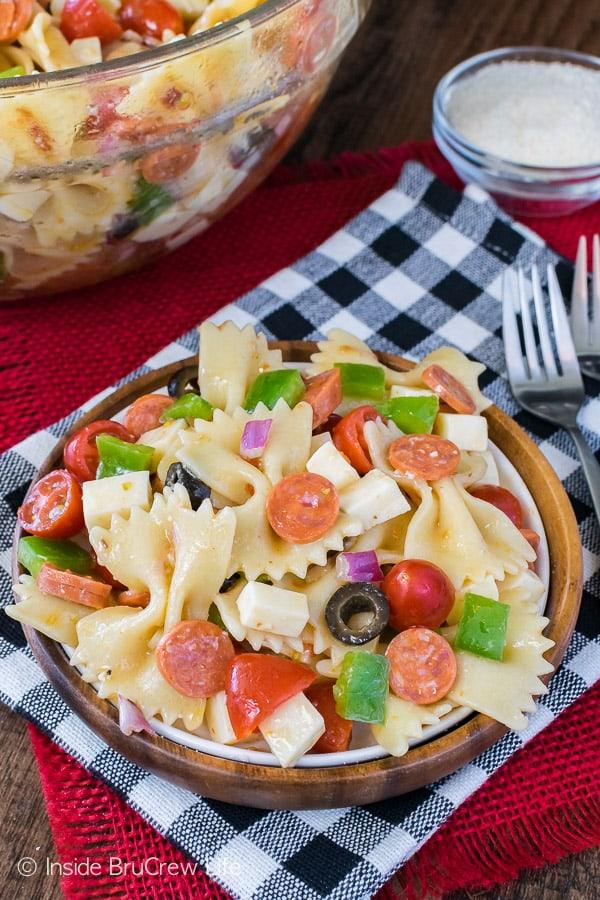 Pizza Pasta Salad @ Inside Bru Crew Life