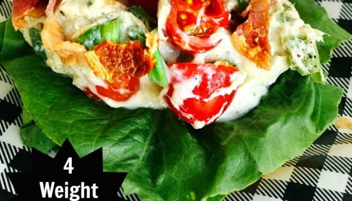 Healthier BLT Ranch Chicken Salad – with Weight Watchers Points!