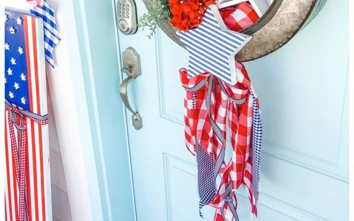 Make a Fourth of July Metal Farmhouse Star Wreath