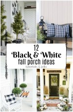 12 Black & White Fall Porch Ideas!
