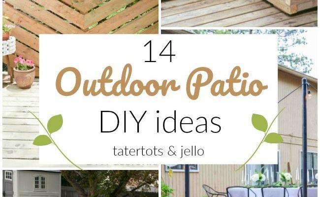 14 Outdoor Patio DIY Ideas!