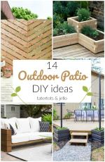 14 Outdoor Patio DIY Ideas!