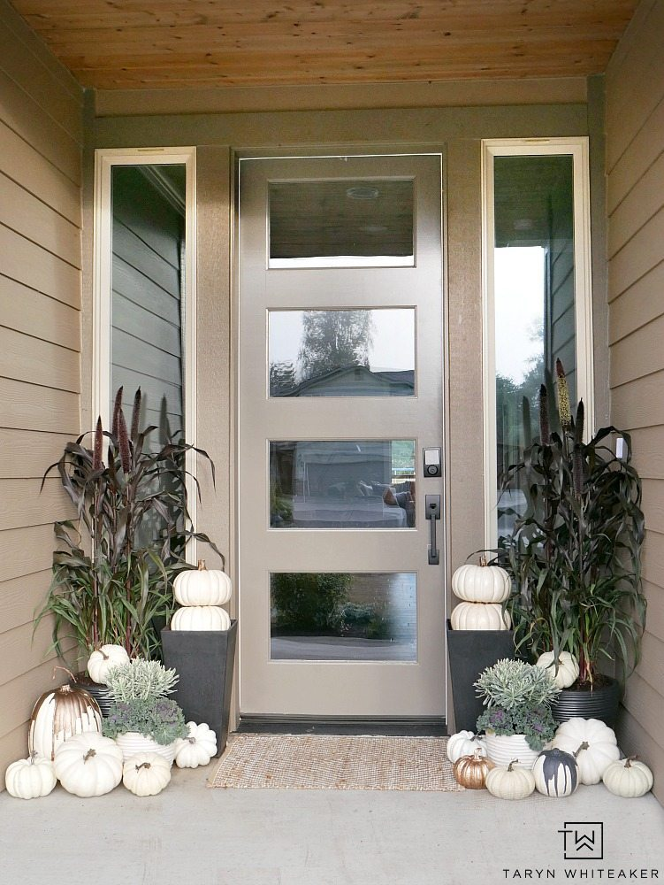 Elegant Fall Porch @ Taryn Whiteaker