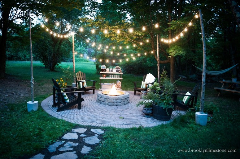 Firepit Patio DIY @ Brooklyn Limestone