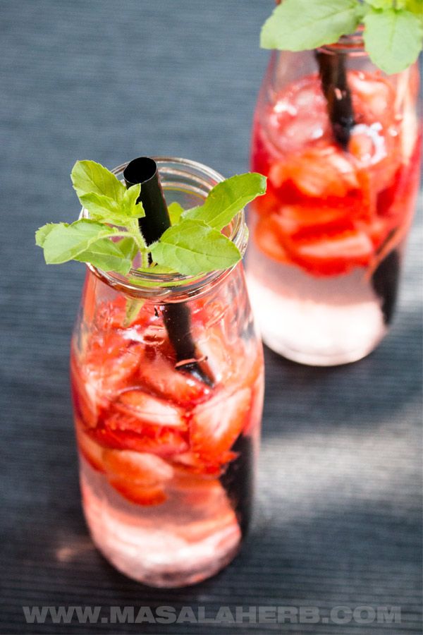Fresh Strawberry Infused Water @ Masala Herb