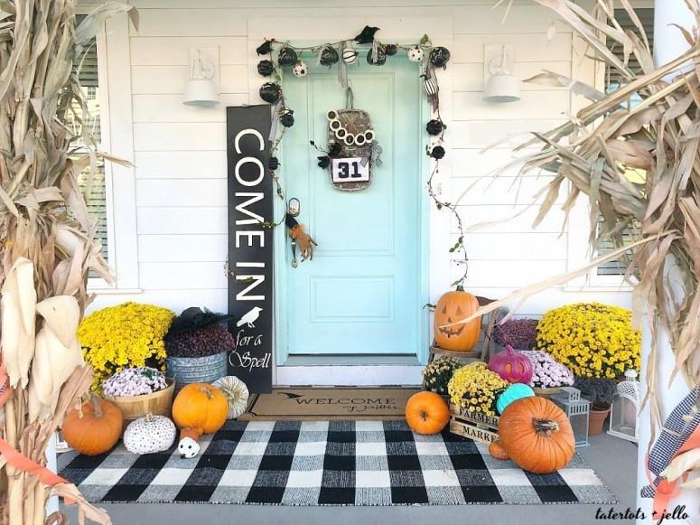 Halloween Basket Witch Wreath