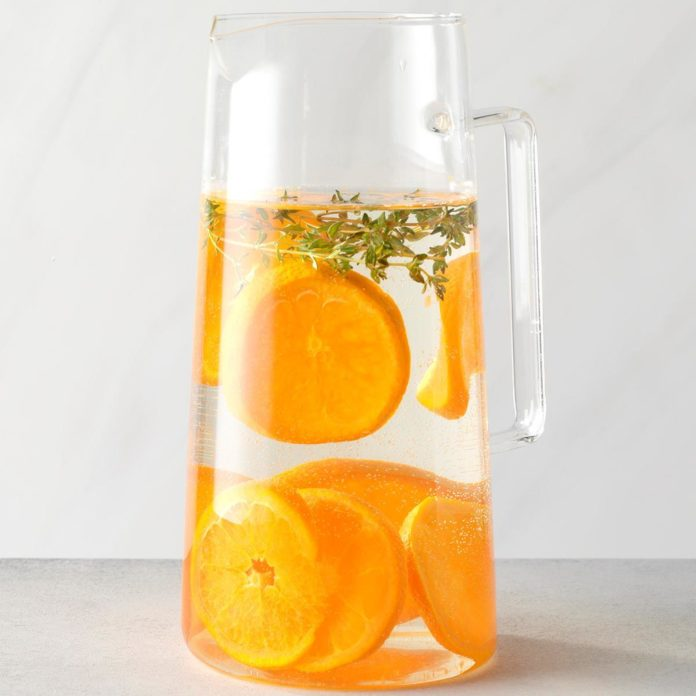 Tangerine and Thyme Infused Water @ Taste of Home