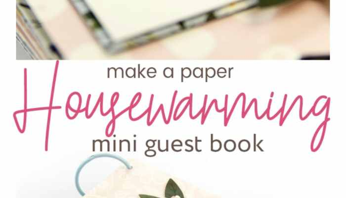 How to Make a Housewarming Paper Mini Guest Book!