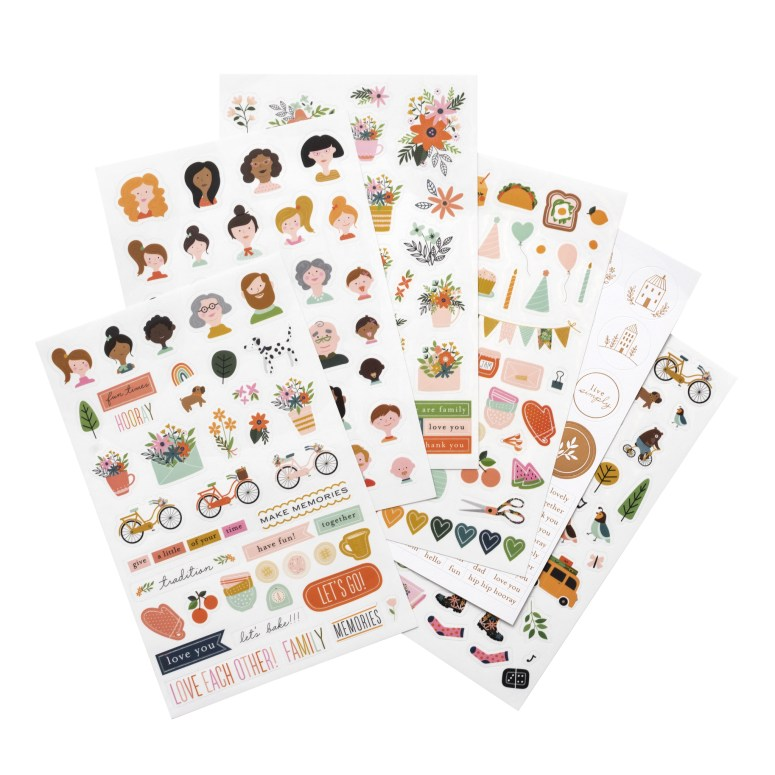 My newest Pebbles line - This is Family. Celebrating family traditions and memories. This is Family is full of warm, rich colors, happy icons and gorgeous embellishments!