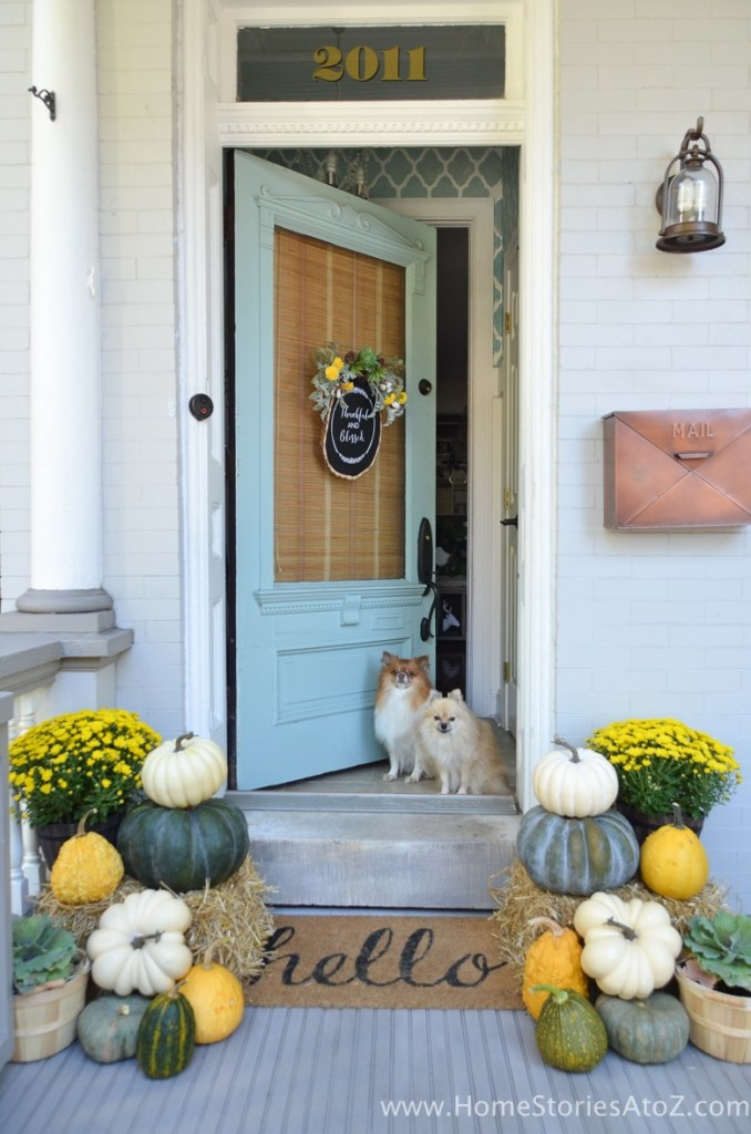Yellow and Green Fall Porch @ Home Stories A to Z