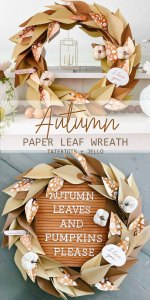 How to Make an Autumn Paper Leaf Wreath for Your Letter Board!