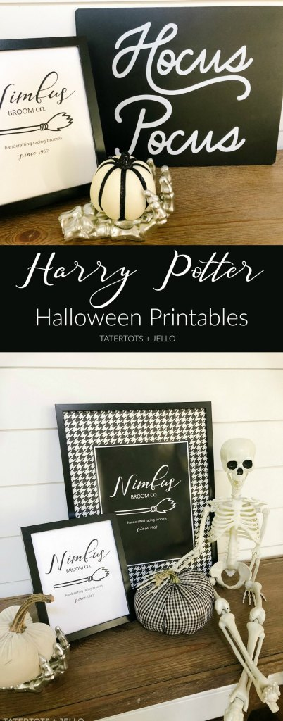 Harry Potter Nimbus Broom Free Halloween Printables. Celebrate your love of Harry Potter and all things creepy this Halloween with these free printables! Just print them off for easy decorating!