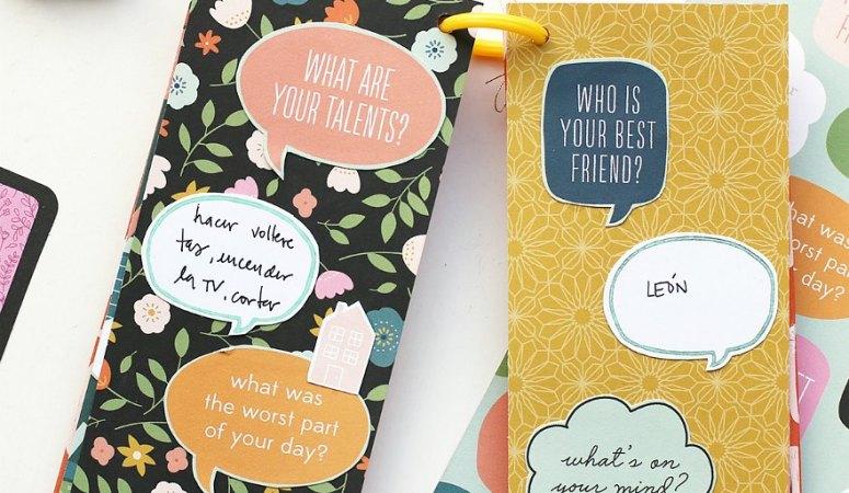 Create a Scrapbook Q & A Mini Book – Family Idea!