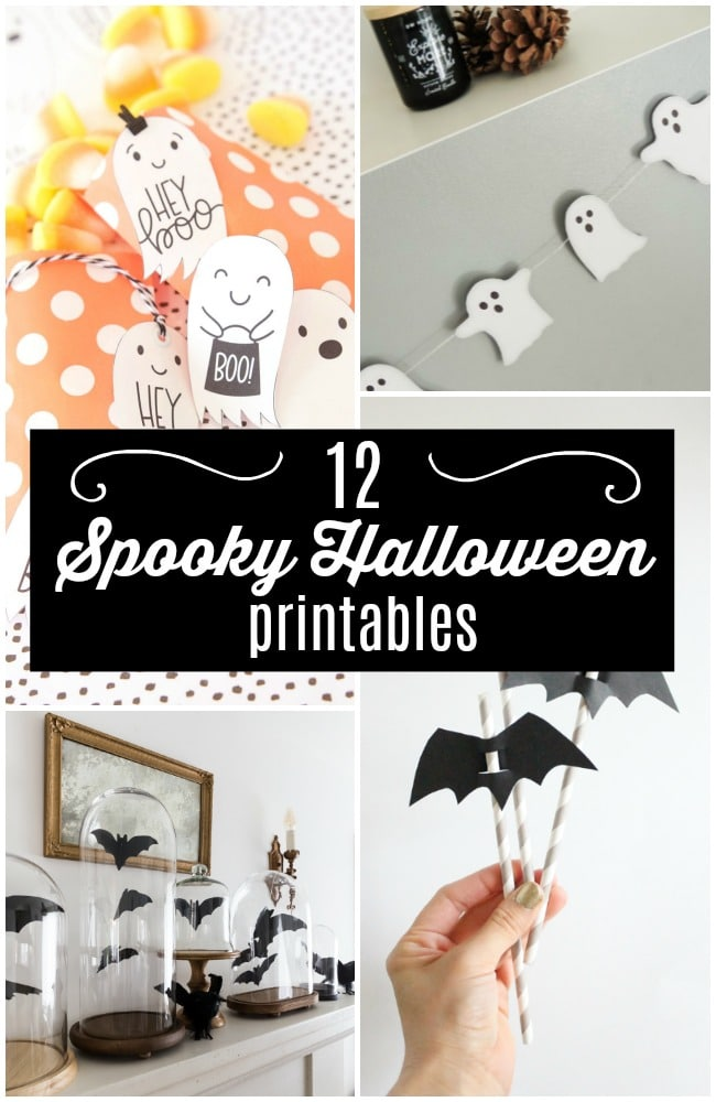 12 Spooky Halloween Printables! Halloween is nearly here! Printables are an easy and effective last minute decor idea, and perfect for parties!