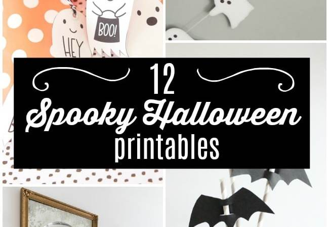12 Spooky Halloween Printables!