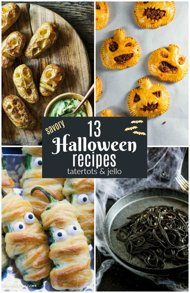 13 Savory Halloween Recipes! Halloween is just a couple of weeks away! There is no better way to celebrate than with spooky snacks!