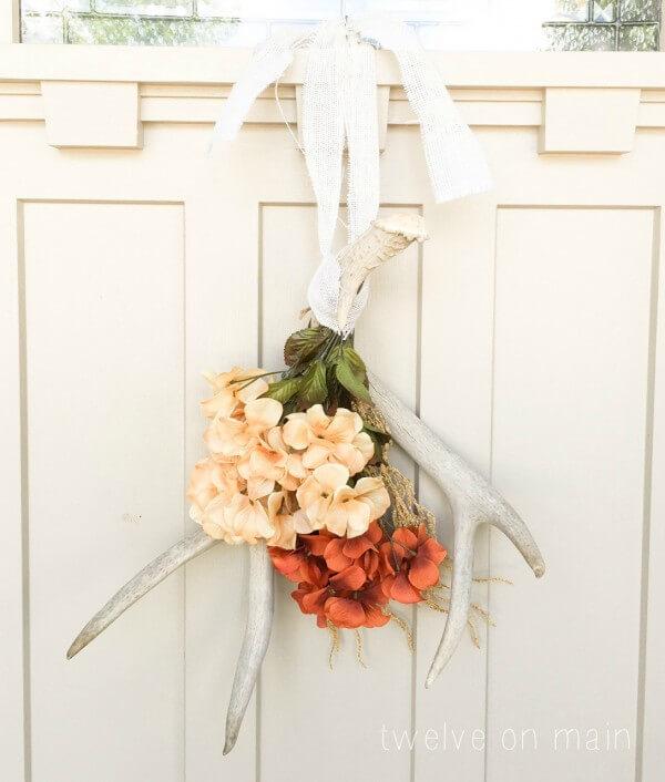 Fall Antler Wreath @ Twelve On Main