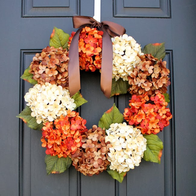 Fall Hydrangea Wreath Tutorial @ One Little Momma