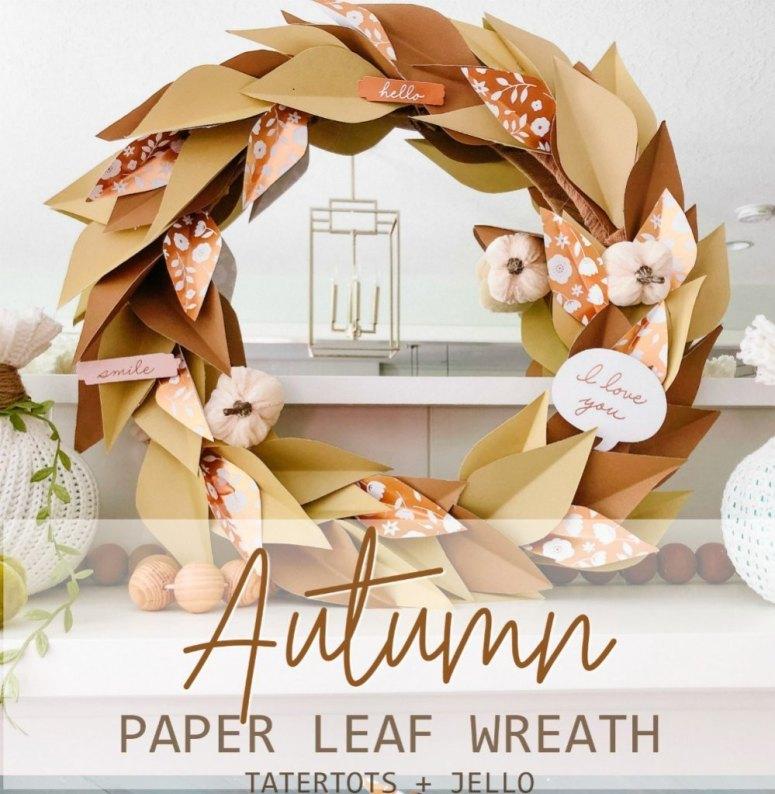 How to Make an Autumn Paper Leaf Wreath