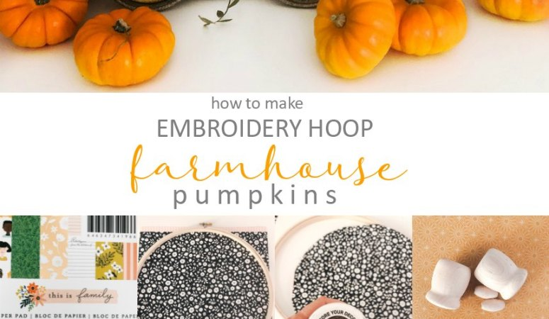 Embroidery Hoop Farmhouse Pumpkins