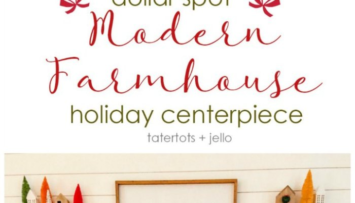 Dollar Spot Modern Farmhouse Holiday Centerpiece