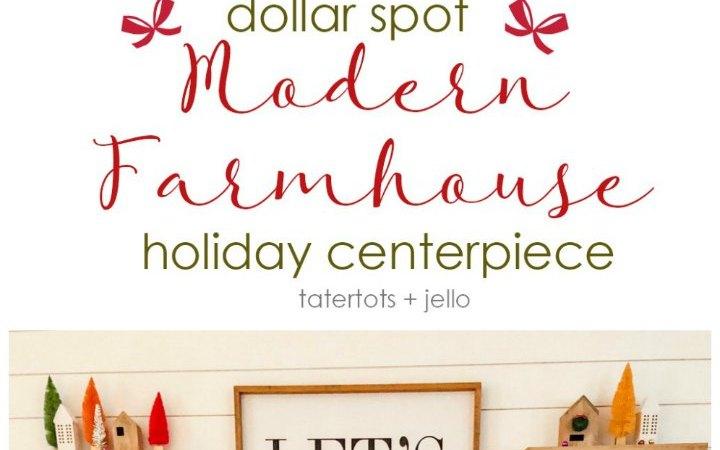 Dollar Spot Modern Farmhouse Holiday Centerpiece
