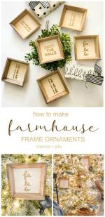 Farmhouse Christmas Sign Ornaments DIY